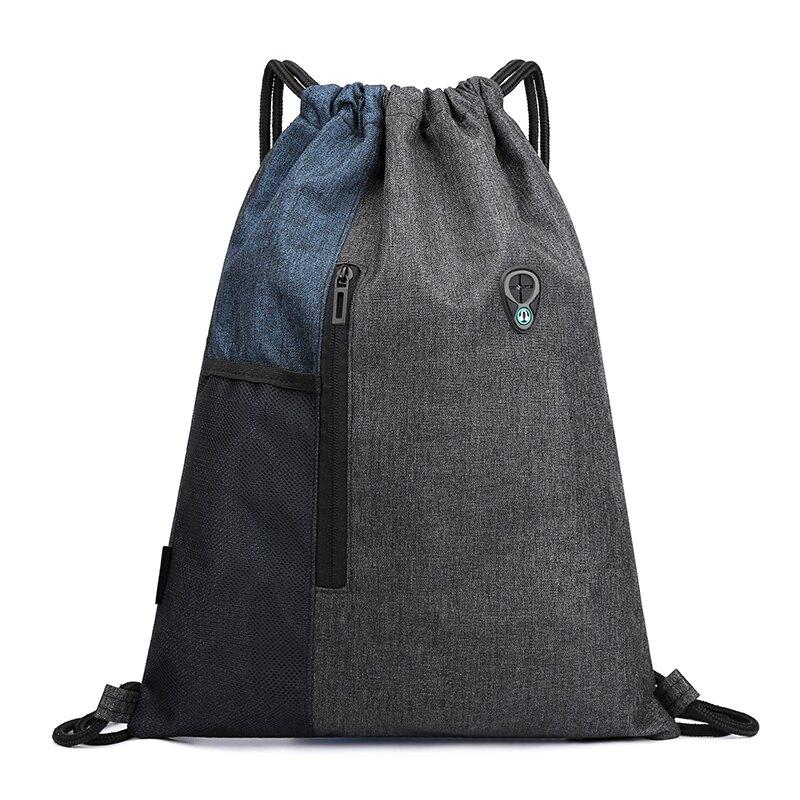 束口包 定制印字logo束口袋雙肩包大容量輕便抽繩包袋健身運動旅行收納包 【CM2660】