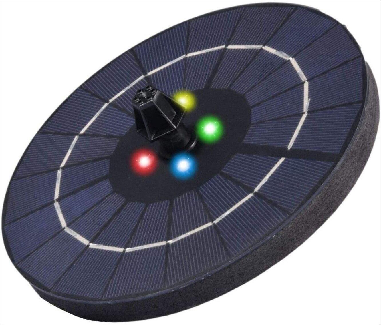 3W帶LED燈內置鋰電池太陽能噴泉庭院美化噴泉