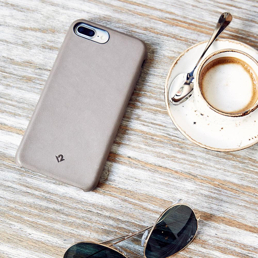 Twelve South Relaxed Leather iPhone 8 Plus / 7 Plus / 6 Plus / 6s Plus 皮革保護背蓋-灰褐色