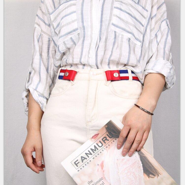 免運 精品-隱形腰帶女士牛仔褲夏款無痕懶人鬆緊褲帶無扣彈力細兒童學生皮帶