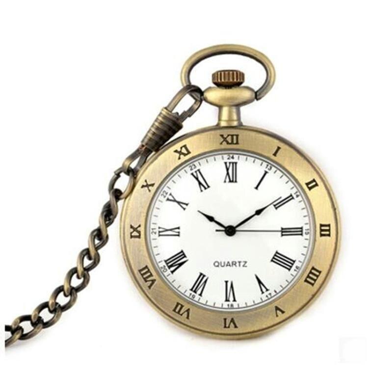 懷錶 時尚復古學生考試夜光阿拉伯字掛表羅馬字男老人女表石英懷表手表