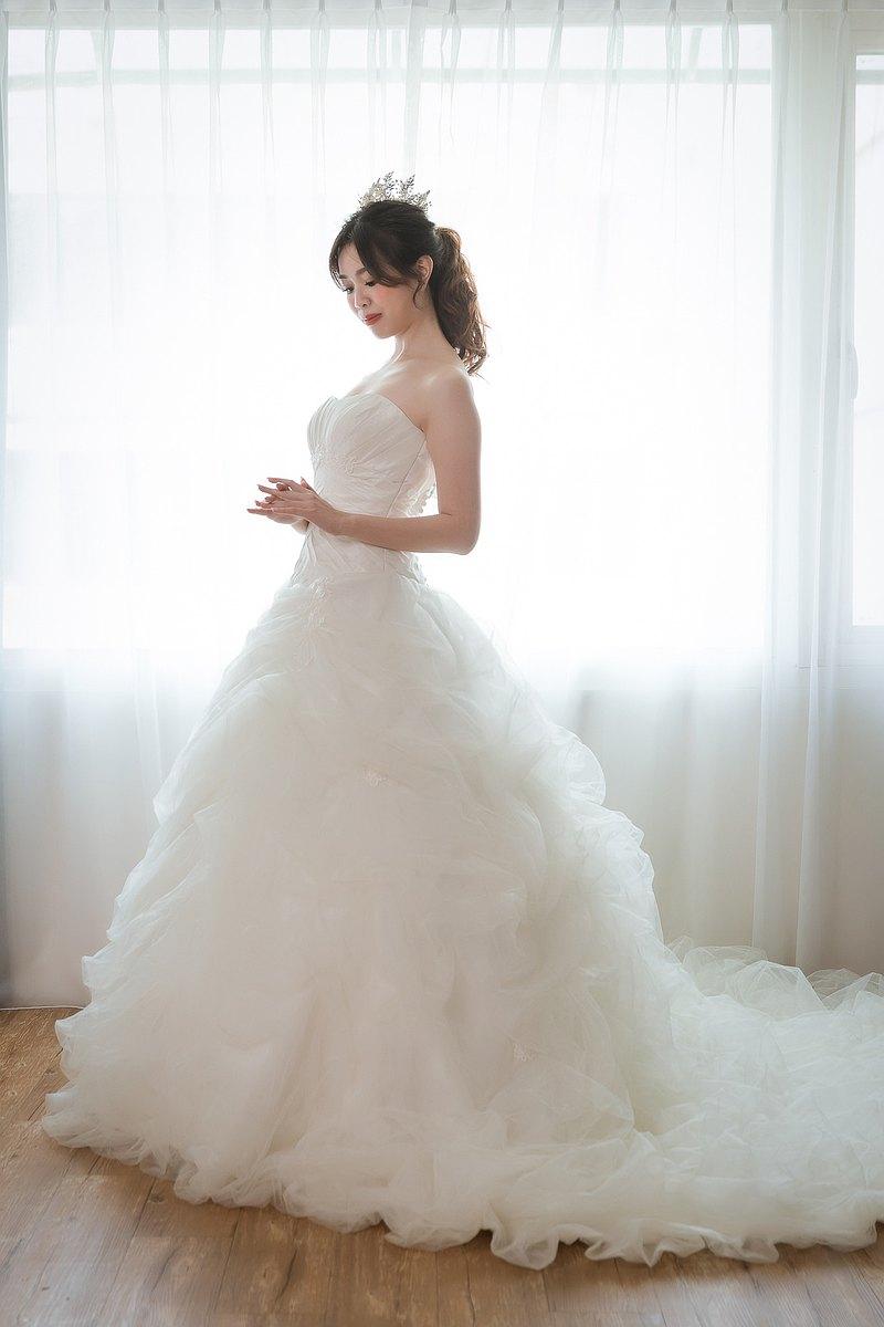 夢幻公主雲朵白紗
