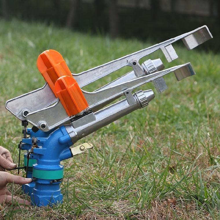 育苗茶園除塵澆水灑水噴灌遠程噴槍可調旋轉花園噴頭草坪抗旱自動