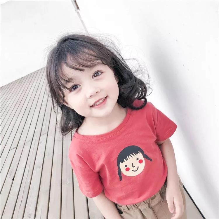 女童短袖上衣 女童短袖T恤夏裝嬰兒童洋氣半袖小寶寶正韓純棉上衣潮季 凡卡時尚