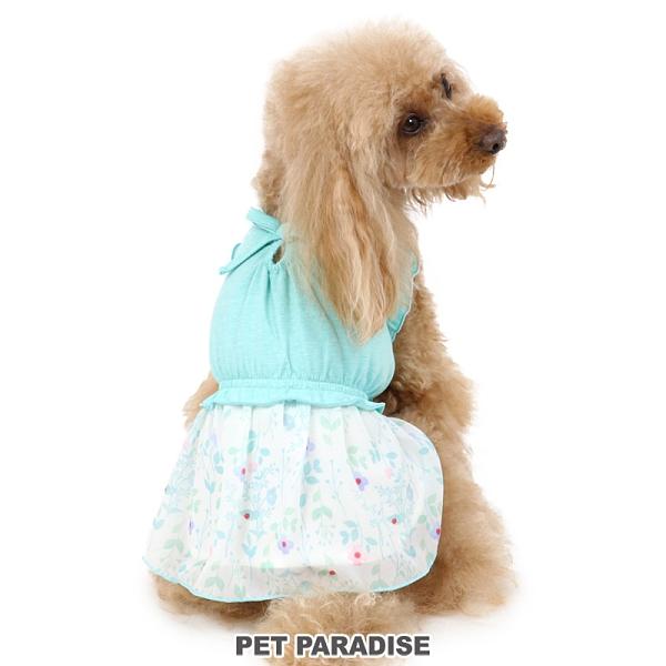 【PET PARADISE 寵物精品】PP 碎花雪紡洋裝 2色/水綠 (3S/DSS/SS/DS/S) 寵物用品 寵物衣服