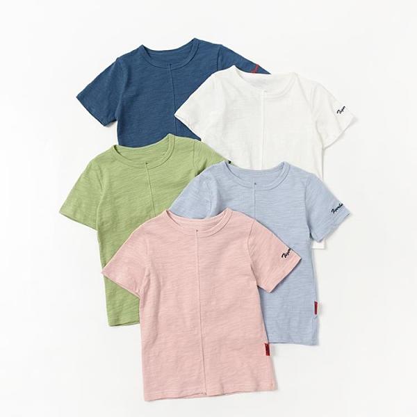 兒童竹節棉上衣 軟軟竹節棉 男童女童薄款圓領T恤 兒童純色短袖上衣 中大童 夏款-Ballet朵朵