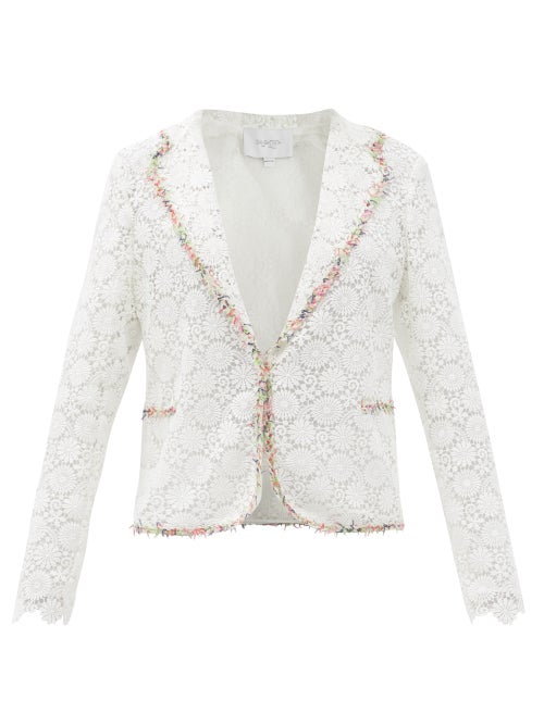 Giambattista Valli - Floral Macramé-lace Jacket - Womens - White