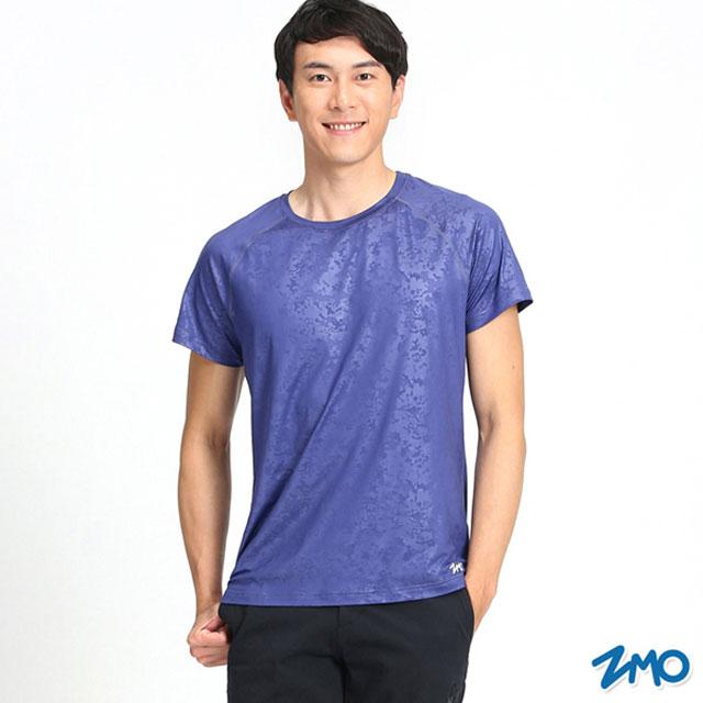 ZMO 男運動壓光短袖衫TN477 - 紫色