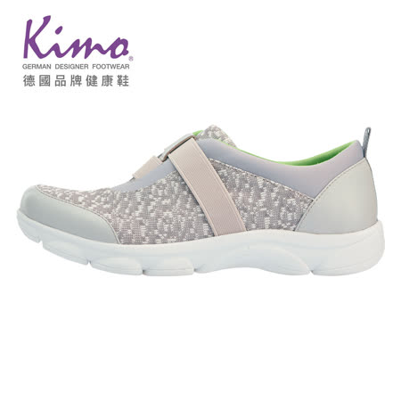 Kimo輕量鬆緊彈力休閒鞋 女鞋 (灰 KBASF054392)