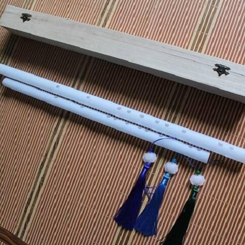鬼笛 橫笛 曲笛 白色亞克力玉笛子 透明有機玻璃水晶笛子 兒童初學笛女生笛非竹笛 全館八五折
