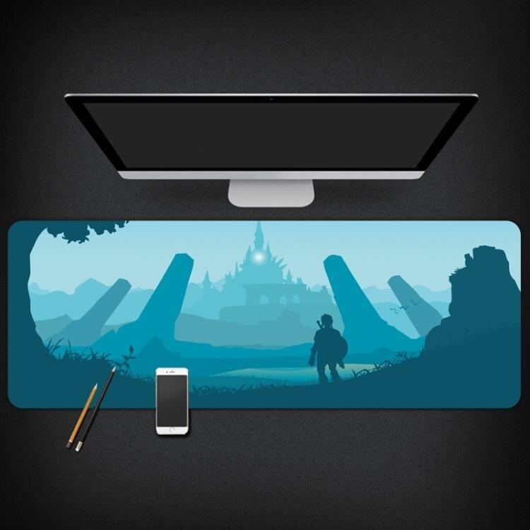 滑鼠墊 塞爾達傳說荒野之息游戲周邊鼠標墊電腦桌墊ins風超大日式鼠標墊