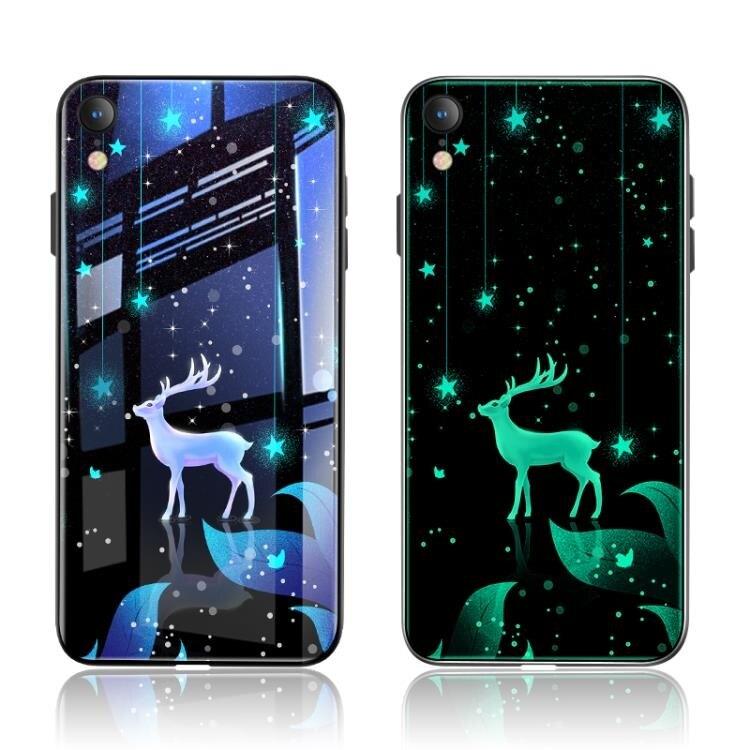 免運 精品-iPhoneXR夜光玻璃手機殼個性創意潮牌蘋果 xr 抖音網紅同款