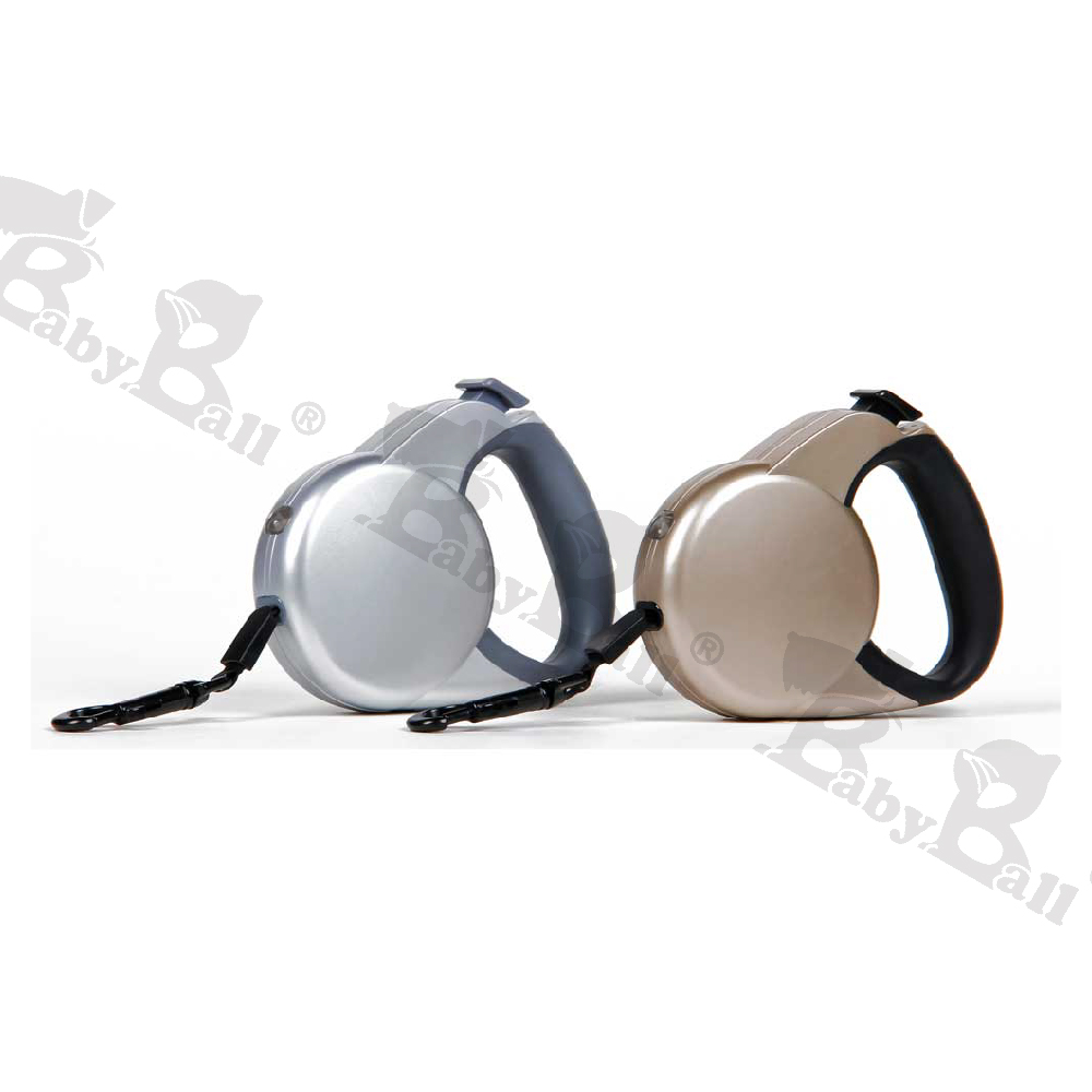 Beamer 寵物自動拉帶-伸縮牽引拉繩/金屬色 (size:S)