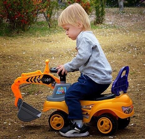 電動挖掘機 兒童挖掘機玩具車可坐人大型挖土機車可坐男孩挖挖機TW