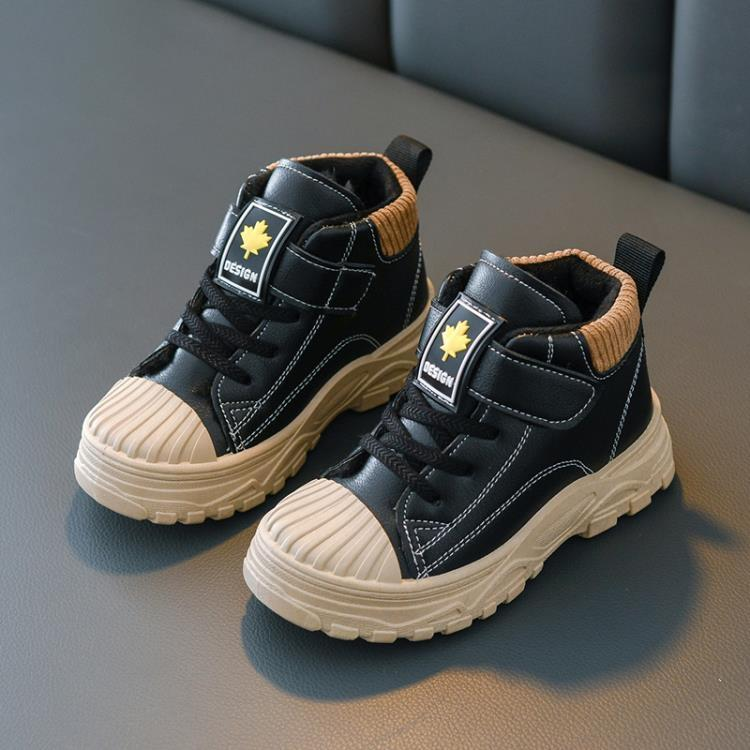 兒童靴子 秋冬兒童馬丁靴女童靴子 寶寶棉鞋雪地靴 男童短靴皮靴棉靴防水潮 凡卡時尚