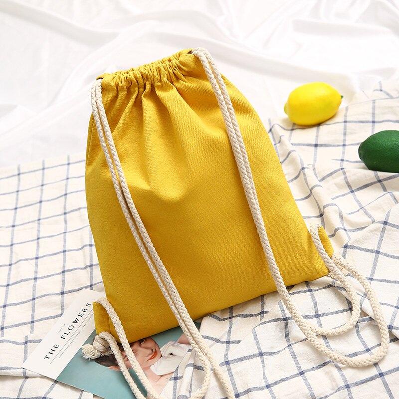 束口包 束口袋抽繩雙肩包男女小學生書包輕便運動帆布背包布袋補習補課包 【CM2651】