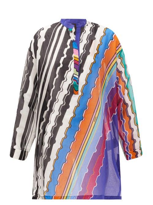 Missoni Mare - Striped Cotton-poplin Kaftan - Womens - Multi