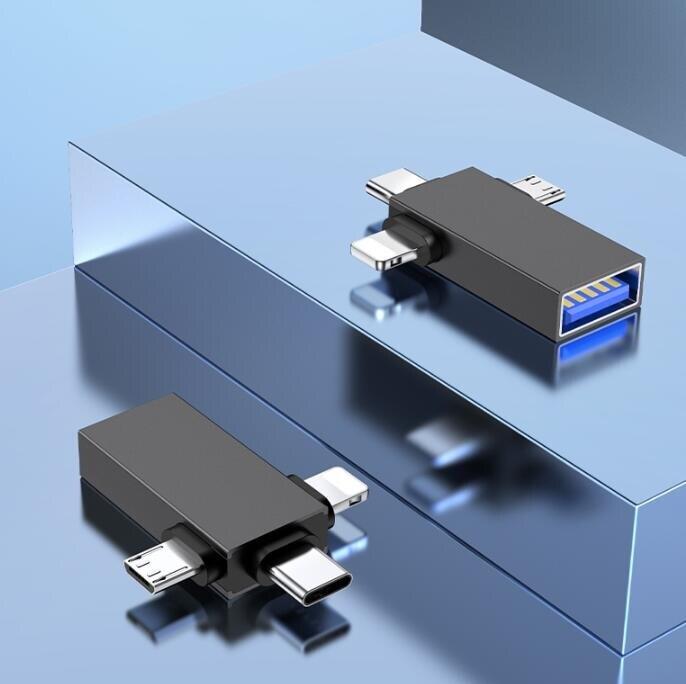 轉接頭 usb接u盤蘋果安卓type-c華為通用數據線otg轉接頭連接優盤