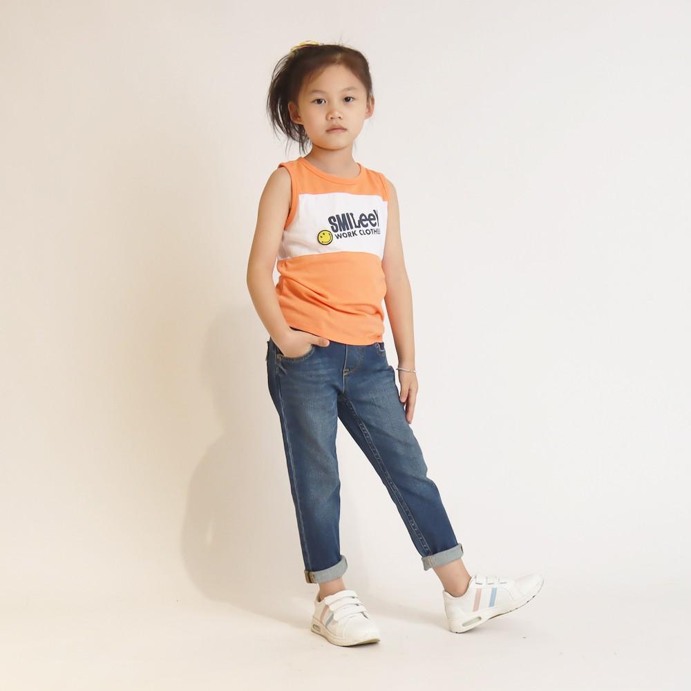 Lee x Smiley 聯名休閒背心 橘 男女童裝