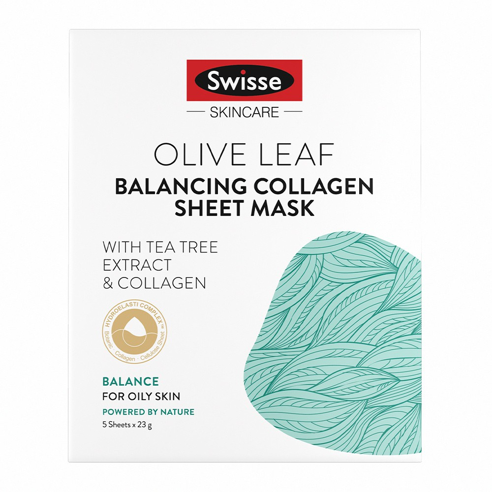 【Swisse】橄欖葉平衡膠原蛋白面膜(23gx5片)