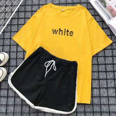 【韓國K.W】(預購)韓時尚夏日氛圍套裝褲(共3色)