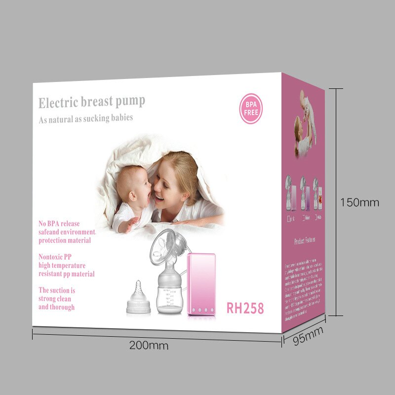 紫莓兔電動吸奶器 孕產婦吸乳擠奶器吸力大自動按摩 催