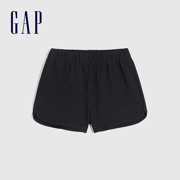 Gap女裝 純棉透氣運動短褲 845032-黑色
