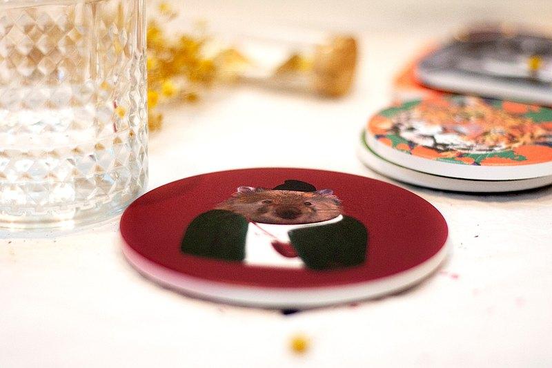 動物系列 /  袋熊先生 /  MIT特製 / 鶯歌陶瓷杯墊 / 藝術擺飾