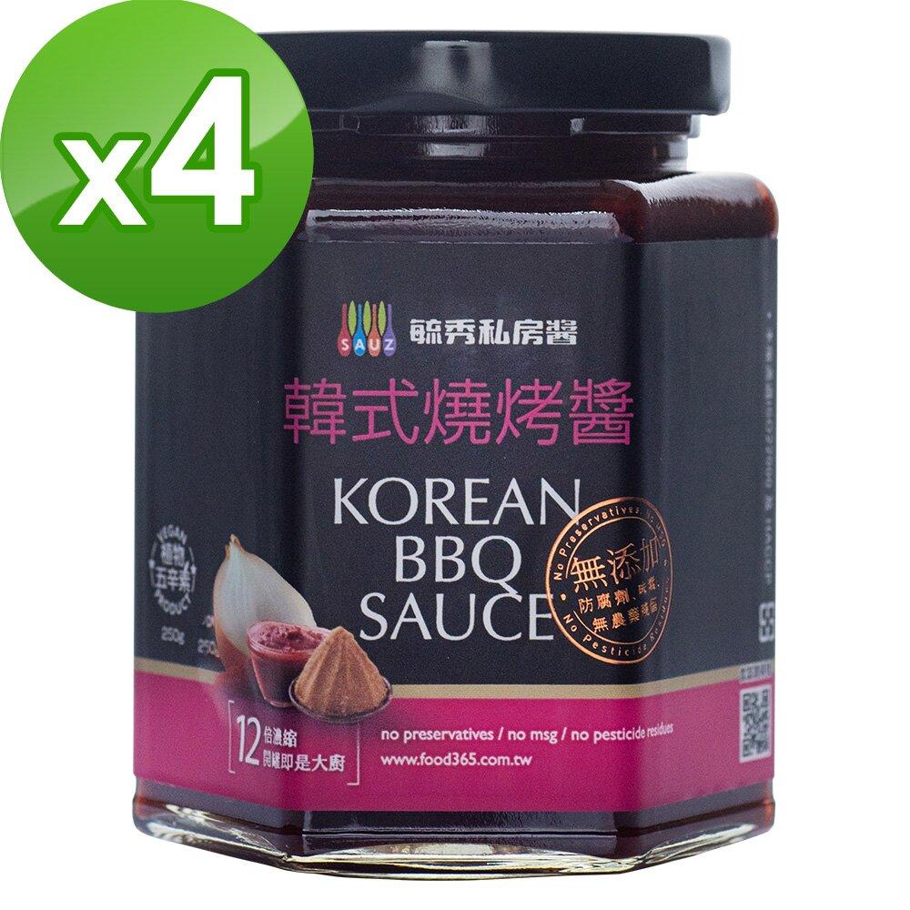 毓秀私房醬 韓式醬(250g/罐)*4罐組