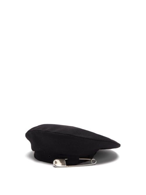 Charles Jeffrey Loverboy - Tamashana Safety Pin-embellished Felt Beret - Womens - Black