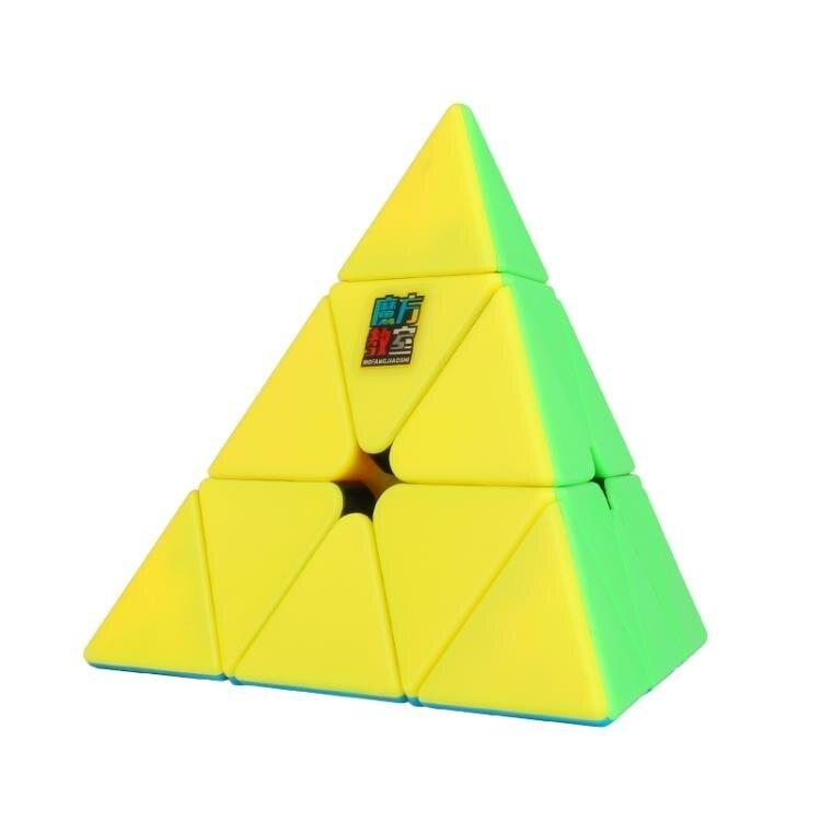 魔方 魔域文化兒童三階三角金字塔魔方益智玩具學生初學者益智力幼兒園