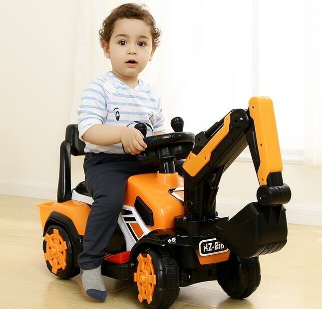 電動挖掘機 兒童挖掘機工程車男孩玩具車超大號電動挖土機車可坐人TW