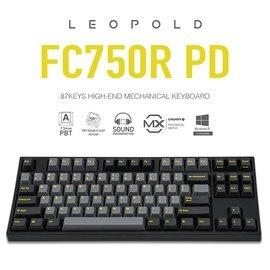 【宏華資訊廣場】韓國Leopold -  FC750R PD機械式鍵盤 石墨金(黃字) 英文