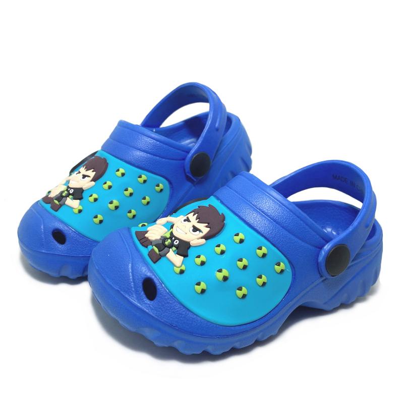 【超取$399免運   滿額↘再折$150】BEN 10 童款電燈超輕量園丁鞋 涼拖鞋 [65029] 藍【巷子屋】