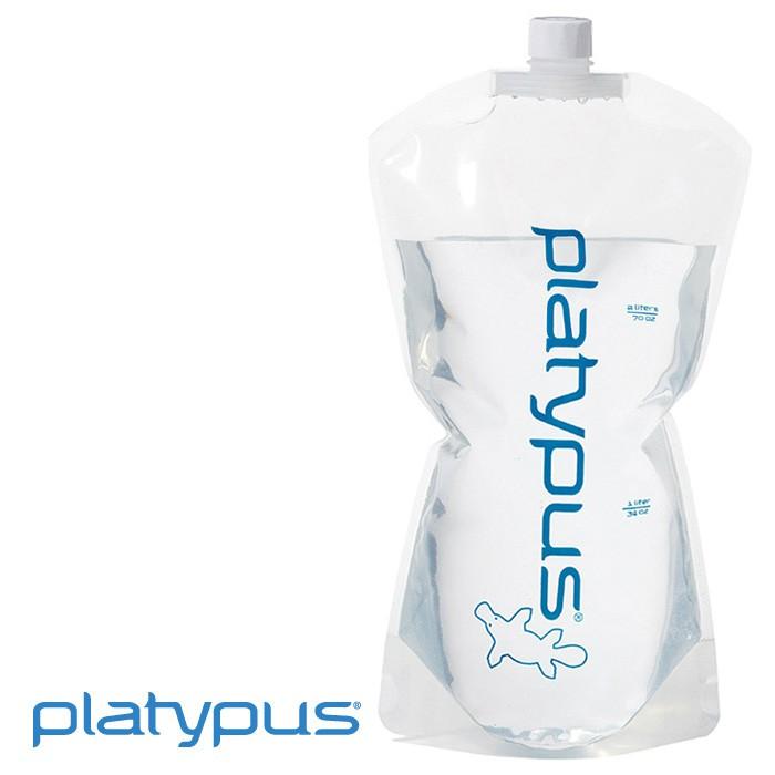 【Platypus 美國】Platy Bottles 鴨嘴獸超輕水袋 儲水袋 飲用水袋 2L (07601)