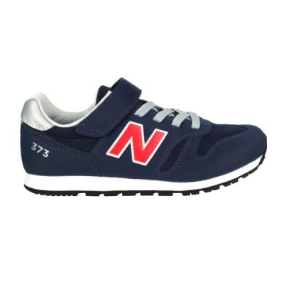 NEWBALANCE 男中童休閒運動鞋-WIDE-373系列 N字鞋 NB YV373CS2 深藍紅