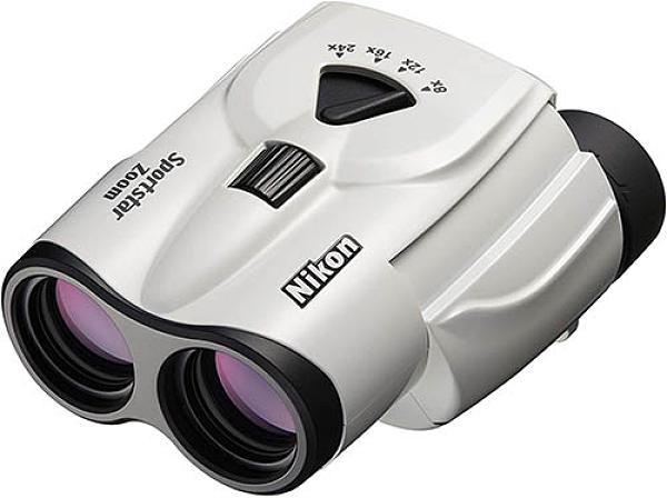 Nikon【日本代購】尼康 變焦雙筒望遠鏡 普羅棱鏡式8-24倍25口徑SPZ8-24X25WH-白色