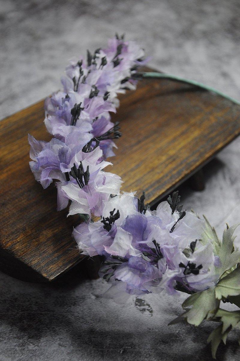 【日本染布花工藝】飛燕草花環 | 染布花課程