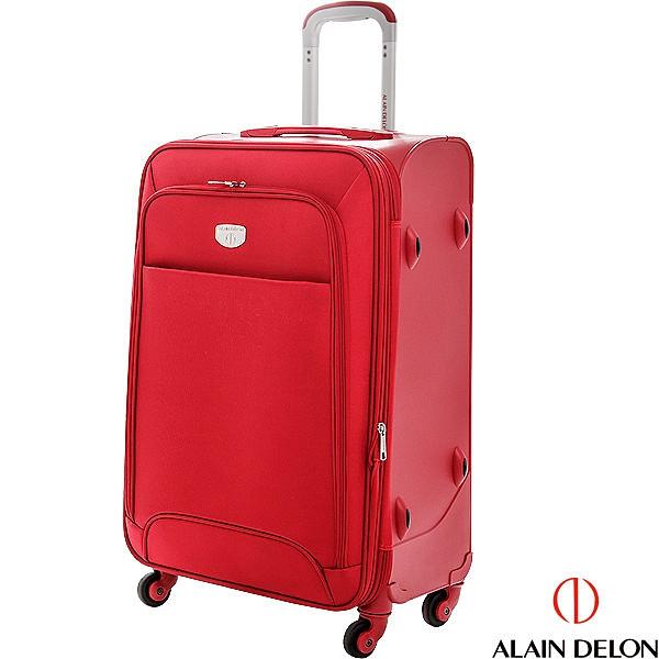ALAIN DELON 24吋 二代尊爵獨特系列旅行箱(紅) 升級飛機輪