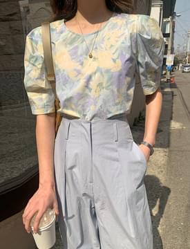 韓國空運 - Garden Pastel Puff Blouse 襯衫