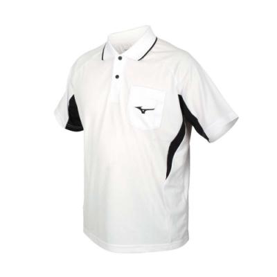 MIZUNO 男短袖POLO衫-吸濕排汗 抗UV 台灣製 慢跑 美津濃 上衣 32TA102101 白黑