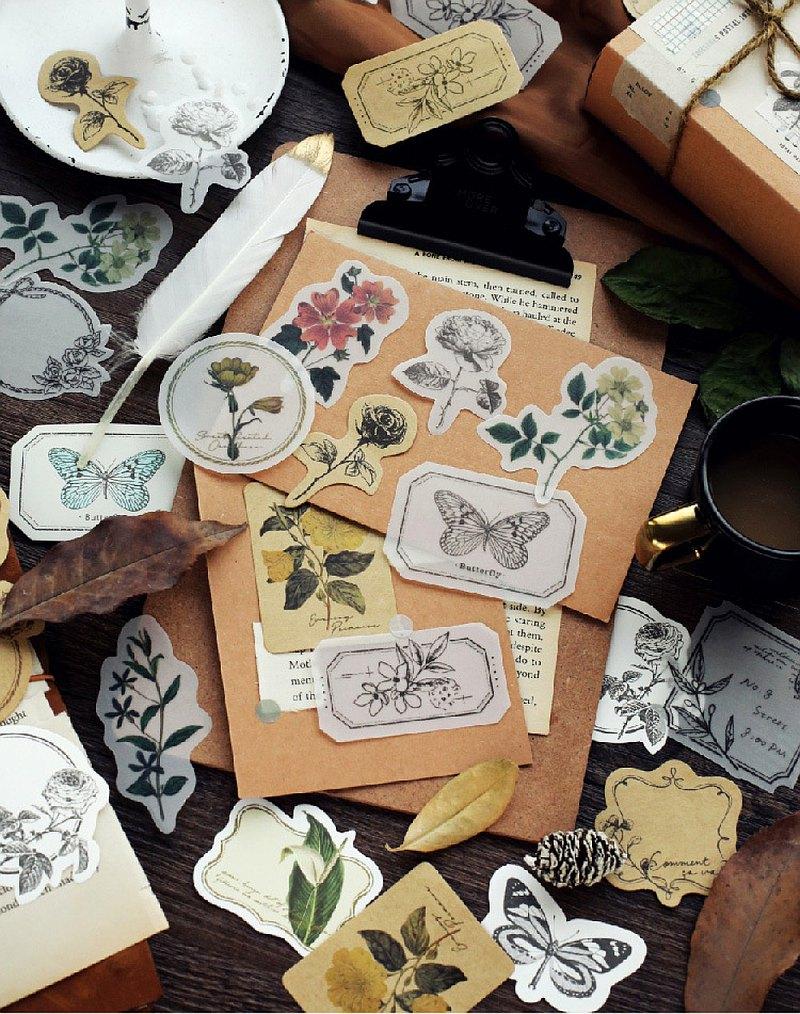 手帳素材紙 花葉旅箋 巴黎晨曦 凡爾賽玫瑰 萊茵河谷 尼羅河畔 貼