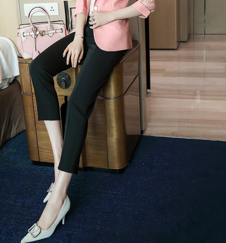 黑色搭配九分褲 [21X019-PF]灰姑娘