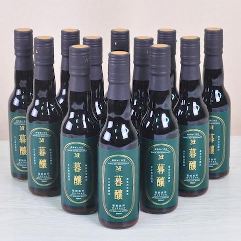 【暮朝食粹】暮釀手工純釀造黑豆醬油 300ML 12入 箱購 水餃沾醬 無防腐劑 無焦糖色素及甜味劑
