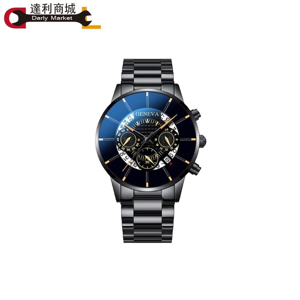 達利商城genvea 時尚男士商務錶 皮帶款 防水 爆款仿三眼手錶 30米防水