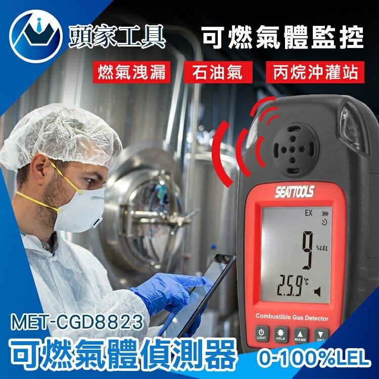《頭家工具》洩漏儀 居家安全 蜂鳴警報 小巧便攜 天然氣 MET-CGD8823 燃氣洩漏