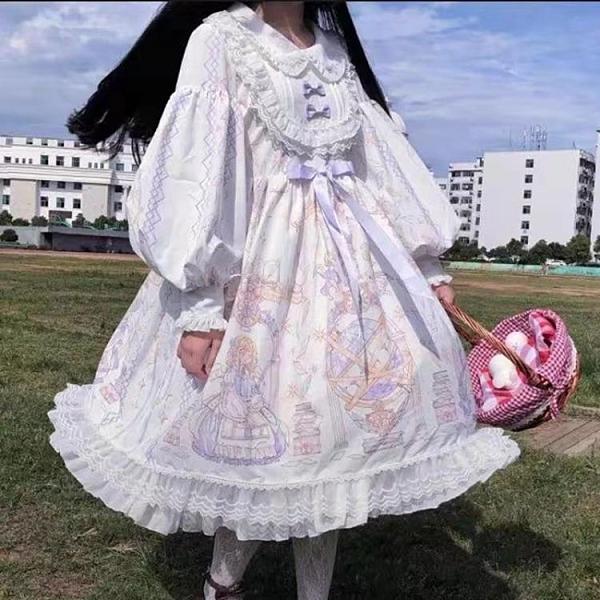 春夏洋裝2020新款學生可愛網紅長袖lolita天使柄op洛麗塔裙子仙 陽光好物