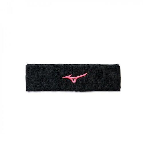 Mizuno Headband [32TY0X0496Q] 頭帶 運動 吸汗 慢跑 打球 登山 戶外 訓練 毛巾 黑粉