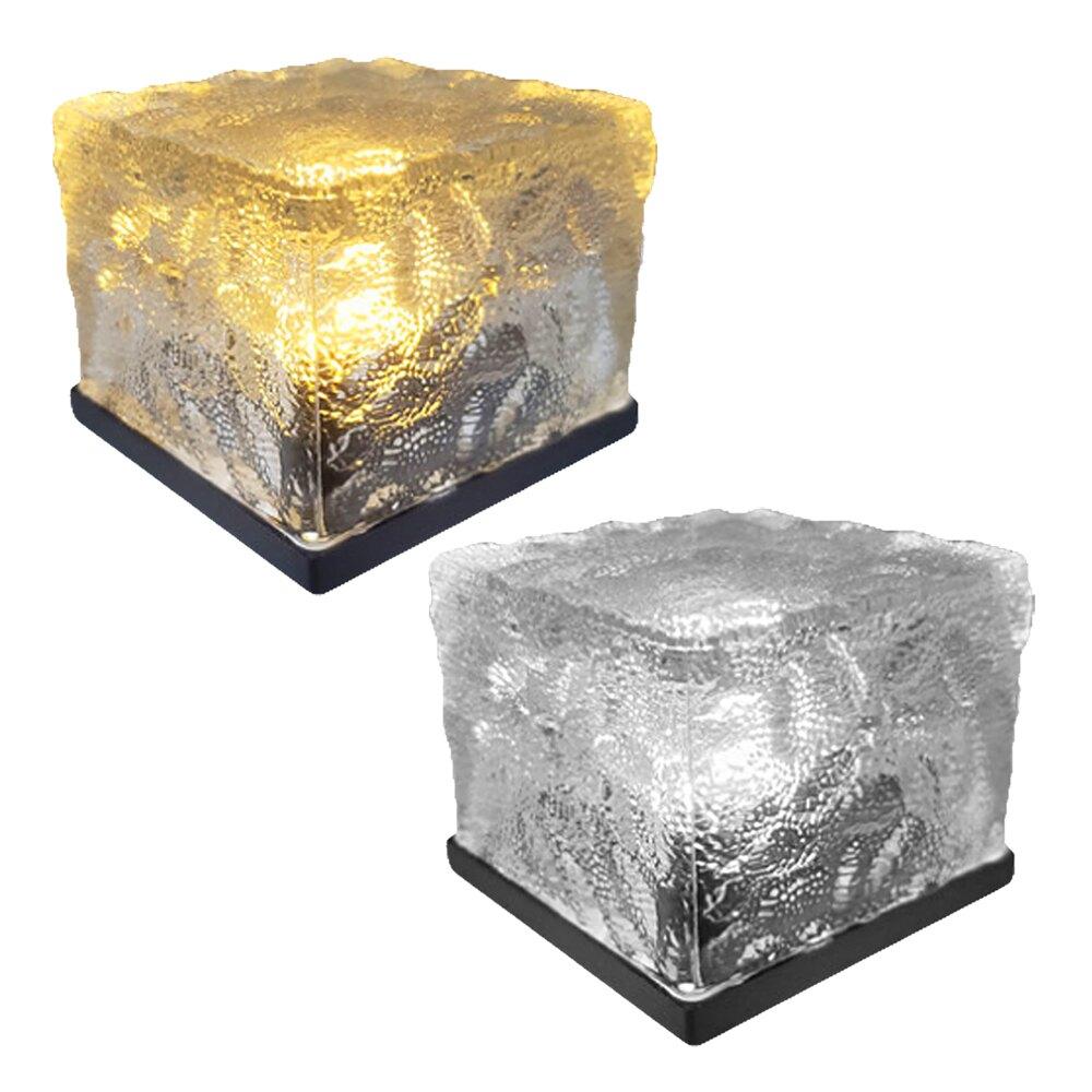 SE-103 太陽能戶外冰花地磚燈 自動亮燈 地埋燈 露營燈 氣氛桌燈 造型裝飾 防水免佈線