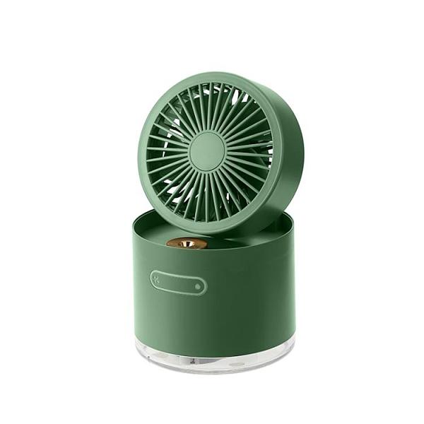 辦公桌小風扇 噴霧制冷空調風扇桌面usb小型迷你超靜音加濕器電扇二合一可充電便攜式 夢藝家
